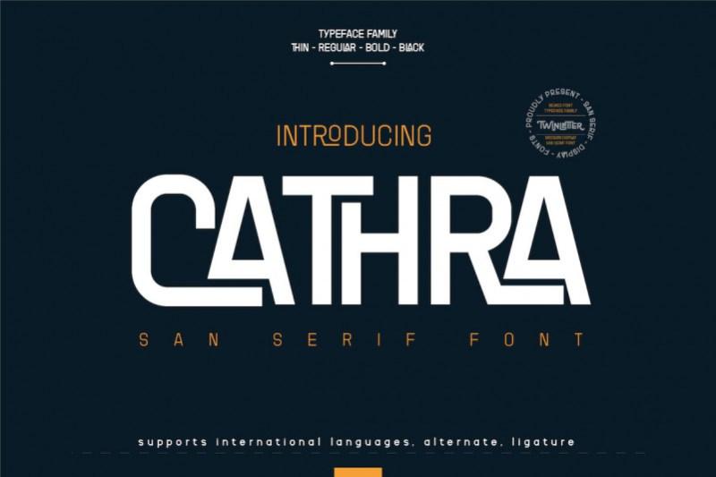 Cathra Sans Serif Font