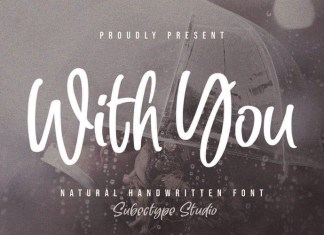 With You Brush Font
