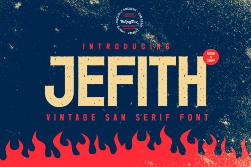 Jefith Sans Serif Font