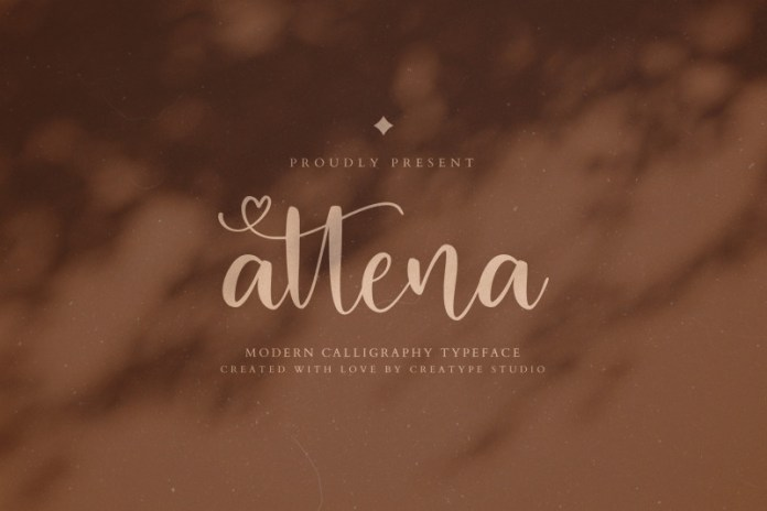 Attena Calligraphy Font