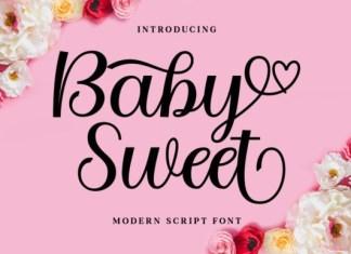 Baby Sweet Calligraphy Font