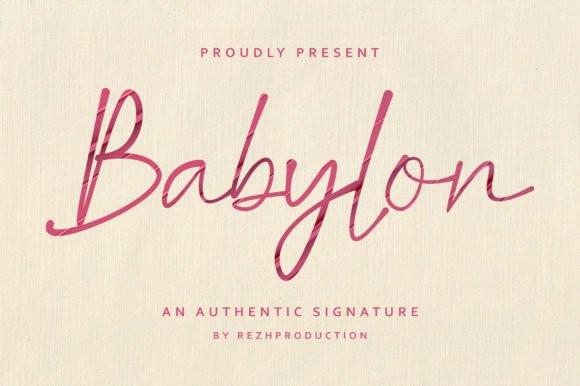 Babylon Script Font