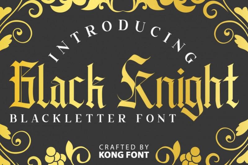 Black Knight Display Font