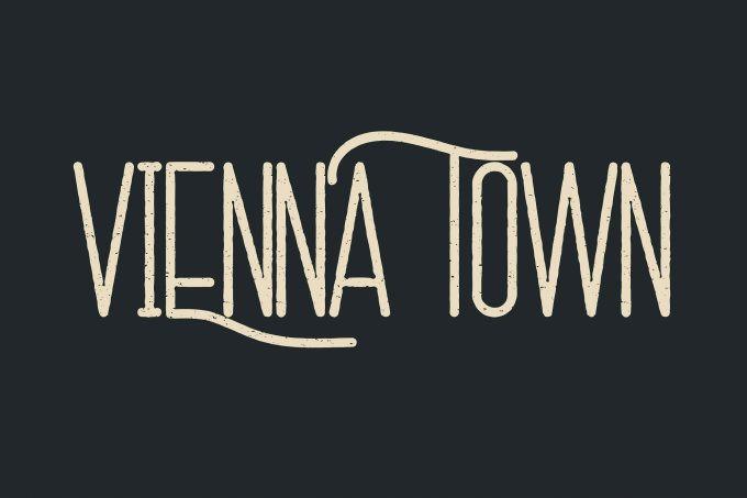 Vienna Town Display Font