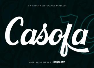 Casofa Script Font