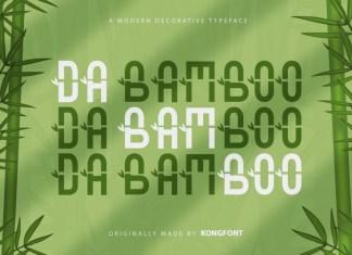 Da Bamboo Display Font