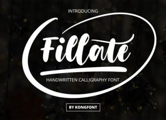 Fillate Script Font