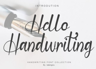 Hello Handwriting Script Font