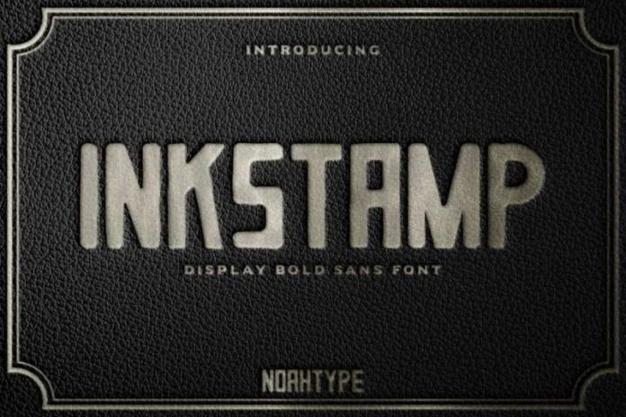 Inkstamp Display Font