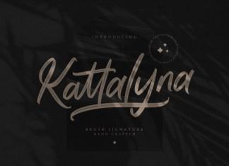 Kattalyna Brush Font