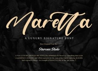 Maretta Script Font