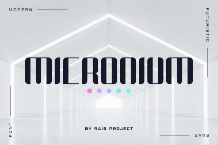Micronium Display Font