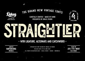 Straightler Display Font