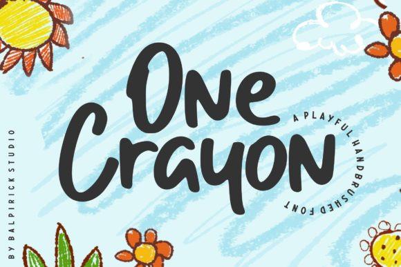 One Crayon Handwritten Font