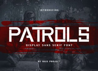 Patrols Display Font
