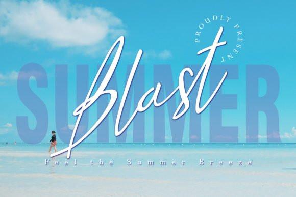 Summer Blast Handwritten Font