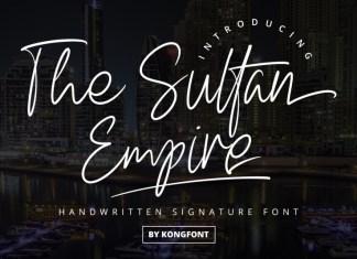The Sultan Empire Handwritten Font
