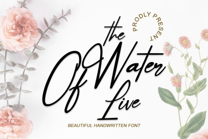 The Water Of Life Script Font