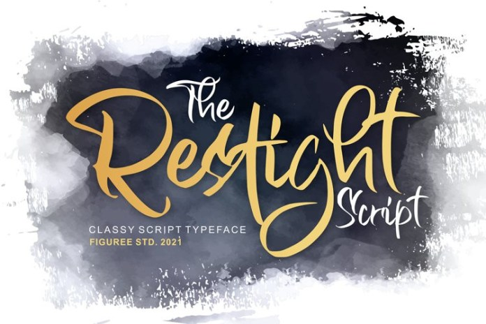 Restight Brush Font