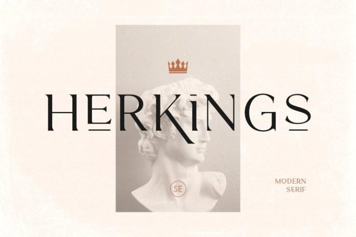 Herkings Serif Font