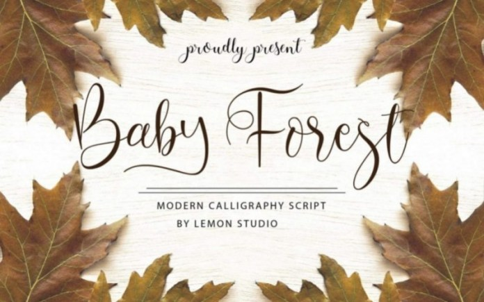 Baby Forest Calligraphy Font