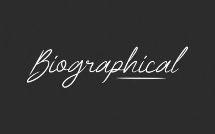 Biographical Handwritten Font