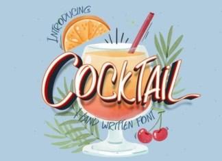 Cocktail Brush Font