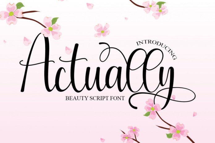 Actually Calligraphy Font