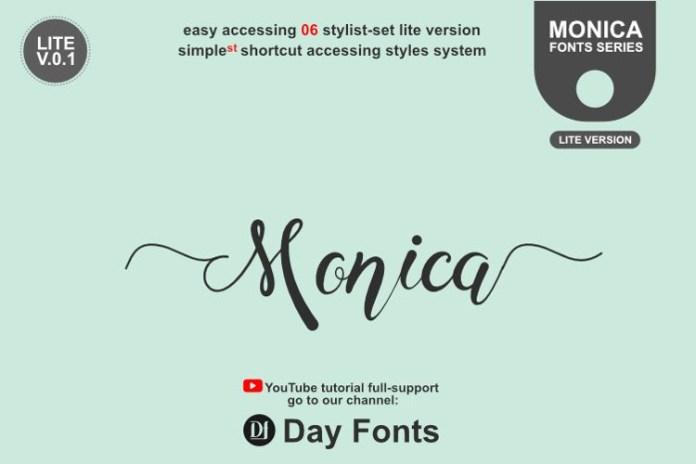 Monica Catty Calligraphy Font