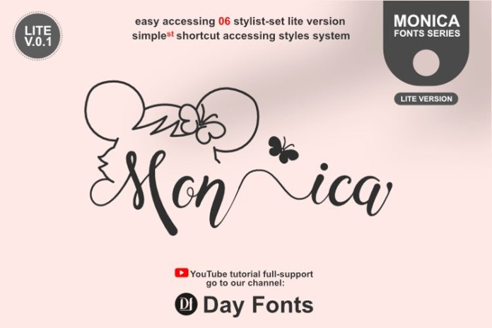Monica Hamster Calligraphy Font