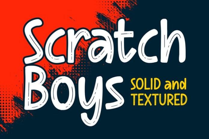 Scratch Boys Brush Font