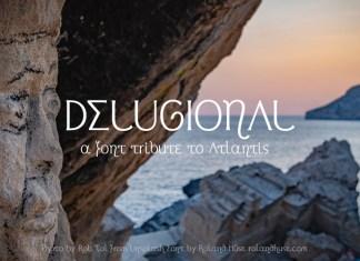 Delugional Display Font