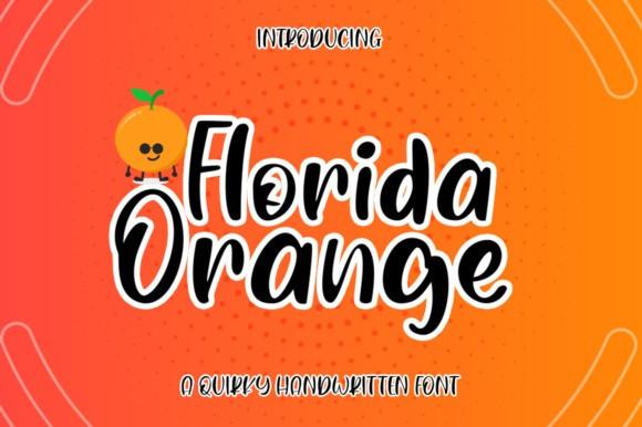 Florida Orange Brush Font