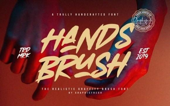 Hands Brush Font