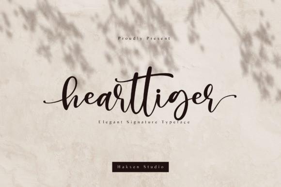 Hearttiger Script Font