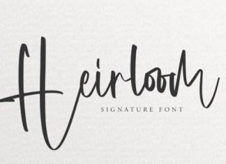 Heirloom Script Font