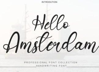 Hello Amsterdam Script Font