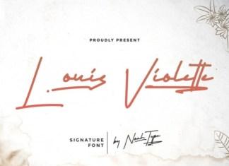 Louis Voulette Handwritten Font