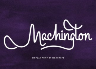 Machington Handwritten Font