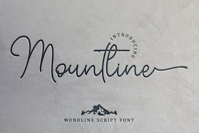 Mountline Handwritten Font