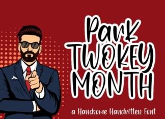 Park Twokey Month Script Font