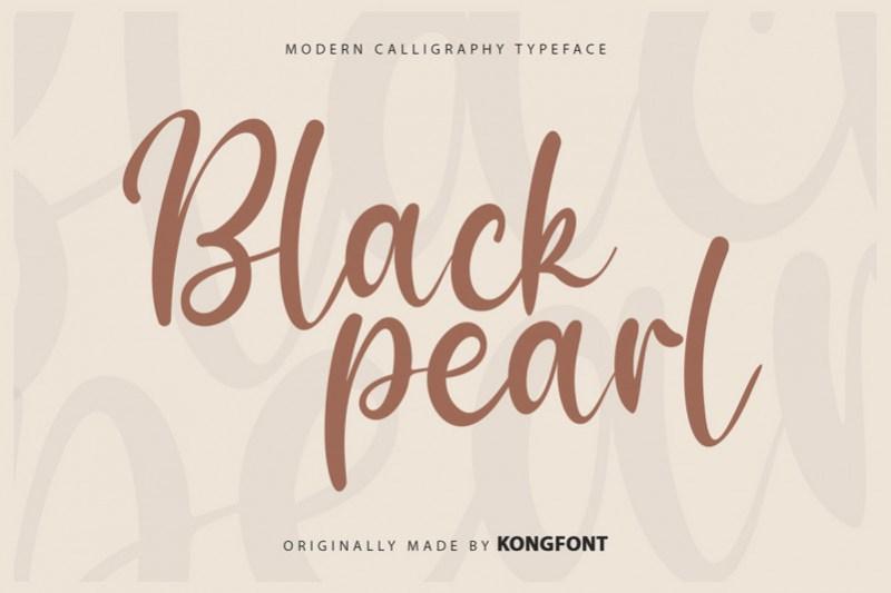 Black Pearl Script Font