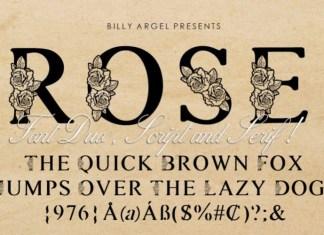 Rosemarrye Calligraphy Font