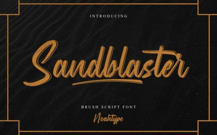 Sandblaster Script Font