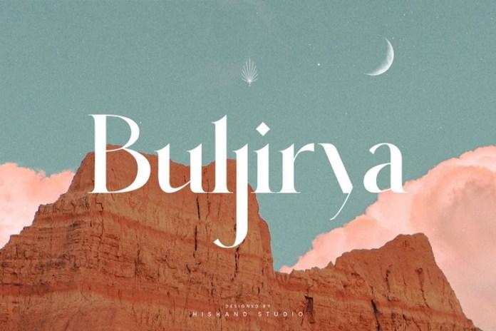 Buljirya Serif Font
