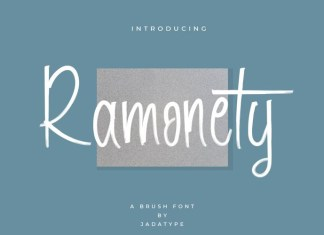 Ramonety Brush Font