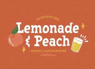 Lemonade and Peach Display Font