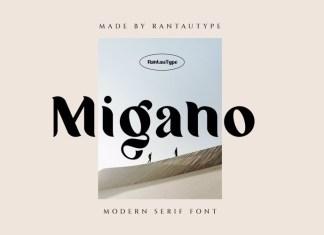 Migano Sans Serif Font