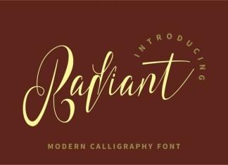 Radiant Calligraphy Font
