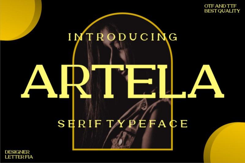 Artela Serif Font